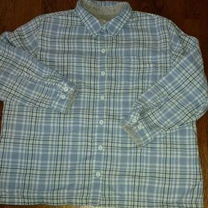 L.L.Bean fleeced lined flannel shirt